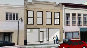 Architectural drawing of 109 West Parrish Street