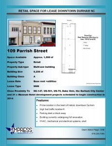 Listing for 109 West Parrish Street