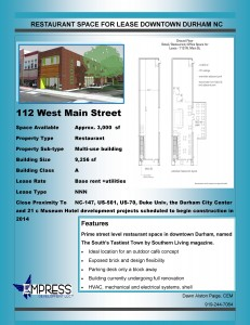 Listing for 112 West Main Street