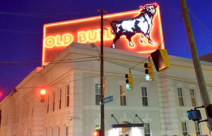 Apartments American Tobacco old bull sign