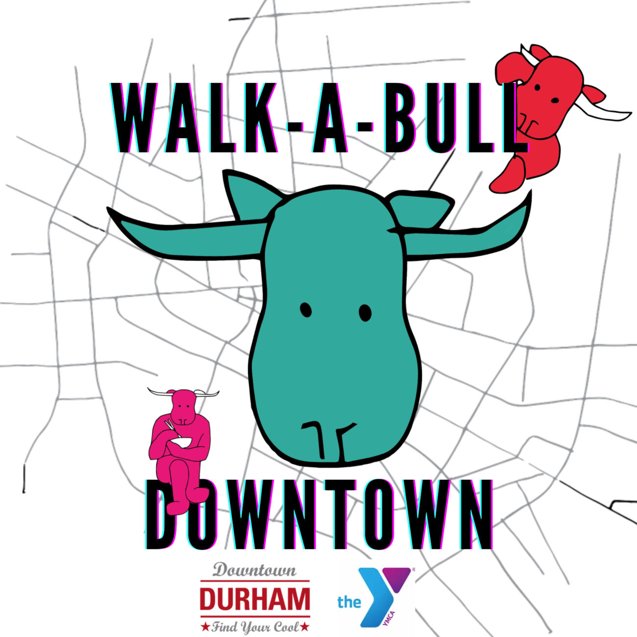 Walk-a-bull Downtown