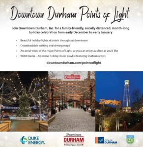 Information sheet for Downtown Durham Points of Light