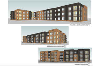 Architectural drawings of Elizabeth Street Apartments