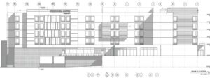 Elevation drawing of Springhill Suites