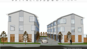 Archictural drawing of Broadway Mews