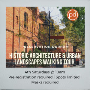 Banner image for Preservation Durham's Historic Architecture & Urban Landscapes Walking Tour