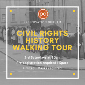Banner image for Preservation Durham's Civil Rights History Walking Tour